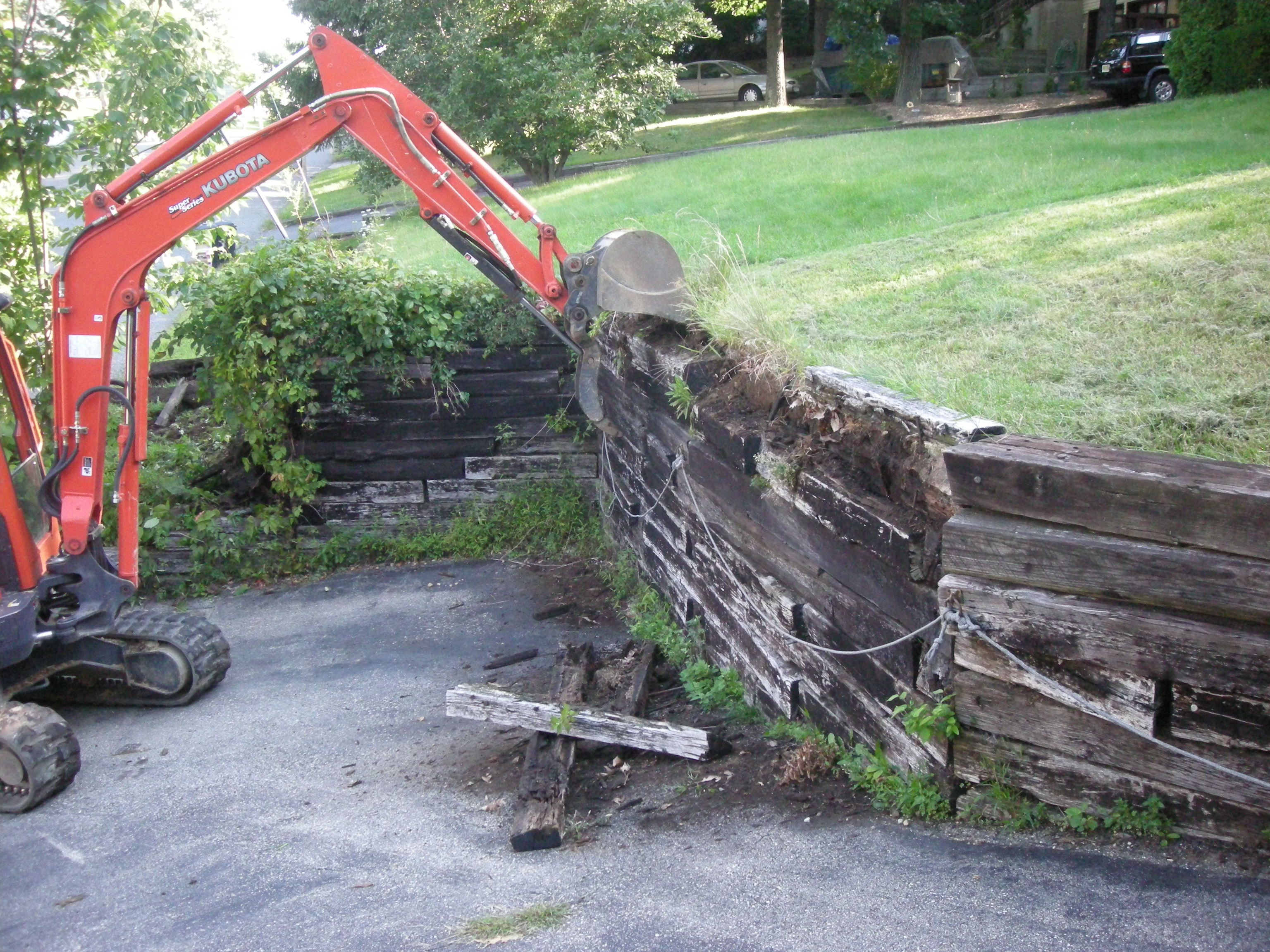 Railroad Tie Retaining Wall Design